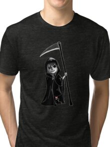 Death's Candy Striped Stockings Tri-blend T-Shirt