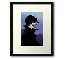 Skeleton Sherlock Framed Print