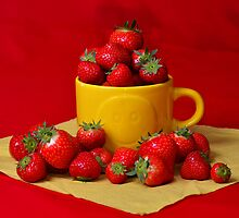 Strawberries in a sunny cup by 7horses