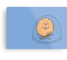 Fat mouse in a snow globe Metal Print