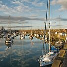 Scarborough harbour at dusk  by StephenRB