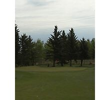 Golfing in Alberta Photographic Print