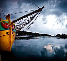 fishing boat in the harbour Split, Croatia  by PhotoStock-Isra
