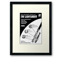 Star Wars Lightsaber Retro Ad Framed Print