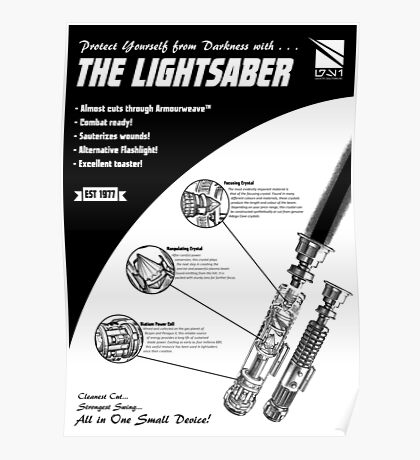 Star Wars Lightsaber Retro Ad Poster
