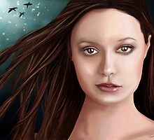 Summer Glau - The girl with the beautiful face by Richard Eijkenbroek