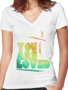You Are Loved- LensFlare Women's Fitted V-Neck T-Shirt
