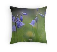 Bluebells at Downton abbey Throw Pillow