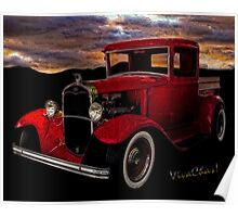 Red 32 Ford Pickup Poster