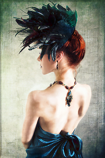 Madame Peacock II by Jennifer Rhoades