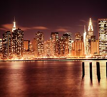 New York City - Night by Vivienne Gucwa