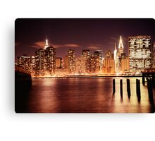 New York City - Night Canvas Print