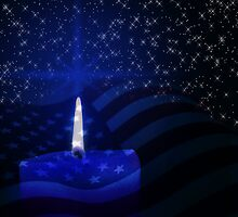 Patriotic Candle by Doreen Erhardt