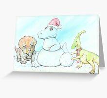 Snowasaurus Rex Greeting Card