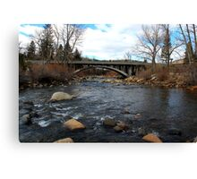 Bridge over the Truckee River,Verdi Nevada USA Canvas Print