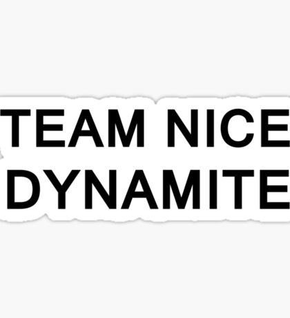 Team Nice Dynamite Sticker