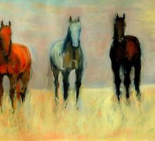 Three Horses by danceswithpaint