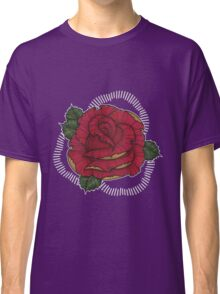 Rose in Red N Gold Classic T-Shirt