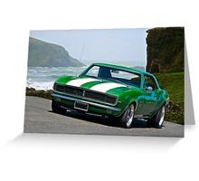 1968 Camaro Rally Sport Greeting Card