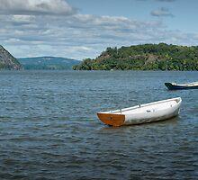 Boats On Hudson River by JHRphotoART
