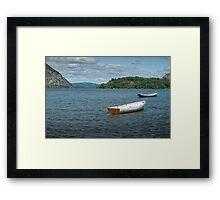 Boats On Hudson River Framed Print
