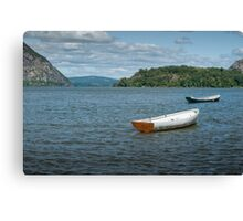 Boats On Hudson River Canvas Print