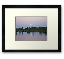MOONRISE ON BEAR CREEK Framed Print