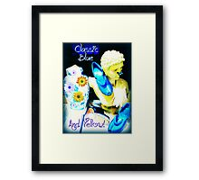Classic Blue and Yellow Framed Print