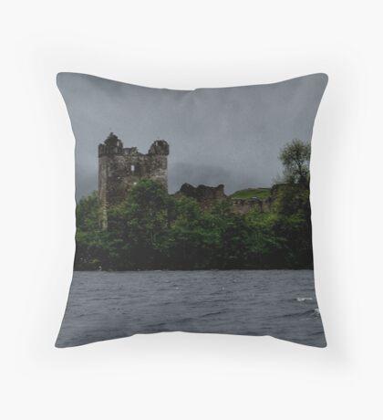 Urquhart ......Haunted Castle.....Loch Ness.....Scotland ! Throw Pillow