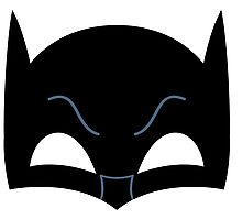 Super hero mask ( batman) Photographic Print