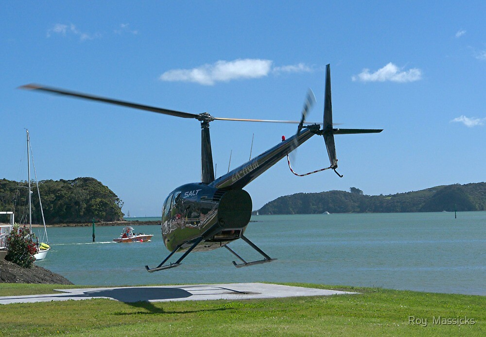 Up...Up...and Away.....!   Helicopter. by Roy  Massicks