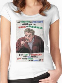 The Tradition of Festivus Begins with the Airing of Grievances... Women's Fitted Scoop T-Shirt