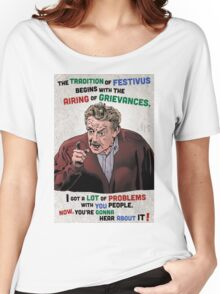The Tradition of Festivus Begins with the Airing of Grievances... Women's Relaxed Fit T-Shirt
