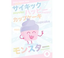 Psychic Happy Cupcake Monster! Photographic Print