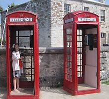 Red Telephone Booths by Patricia127