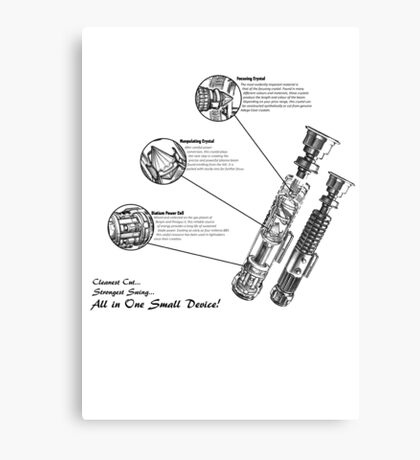 Star Wars Lightsaber Schematics Canvas Print