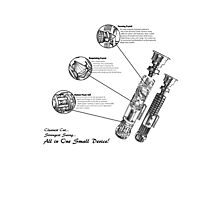 Star Wars Lightsaber Schematics Photographic Print