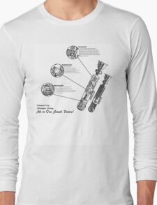 Star Wars Lightsaber Schematics Long Sleeve T-Shirt