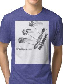 Star Wars Lightsaber Schematics Tri-blend T-Shirt