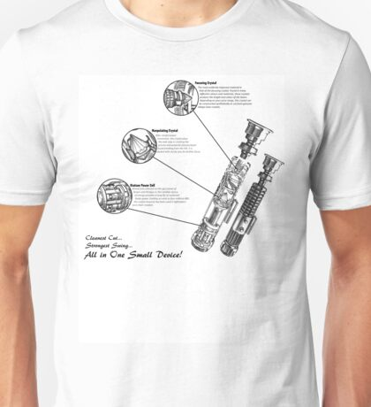 Star Wars Lightsaber Schematics Unisex T-Shirt