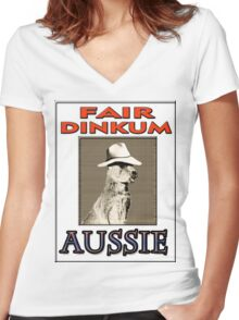 FAIR DINKUM Women's Fitted V-Neck T-Shirt