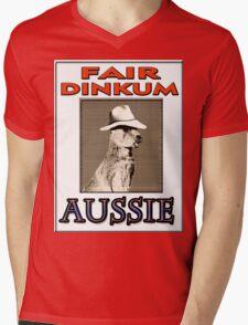 FAIR DINKUM Mens V-Neck T-Shirt