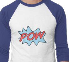 Superhero POW Men's Baseball ¾ T-Shirt