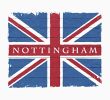 Nottingham Union Jack Vintage Flag by Mark Tisdale