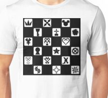 Kingdom Hearts Grid (Filled) Unisex T-Shirt