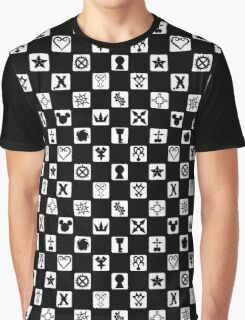 Kingdom Hearts Grid (Filled) Graphic T-Shirt