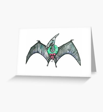 The Pteranodon of Christmas Greeting Card