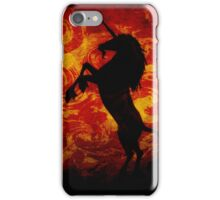 Dark Unicorn on Red iPhone Case/Skin