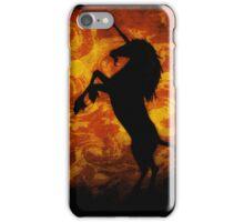 Dark Unircorn on Orange iPhone Case/Skin