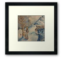 A Woman in Winter Framed Print